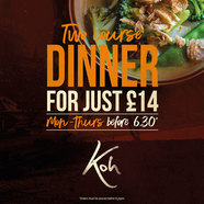 £14 dinner at Koh Thai Tapas in Lymington