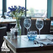 Enjoy spectacular views over lunch or dinner at The Haven Restaurant