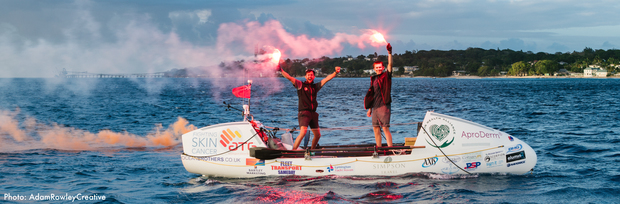 The Ocean Brothers completed their row across the Atlantic on Mothering Sunday!