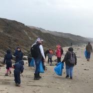 Durlston Court beach clean up