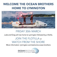 Welcome the Ocean Brothers home to Lymington 30th March