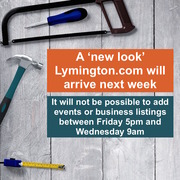 Lymington.com is being updated