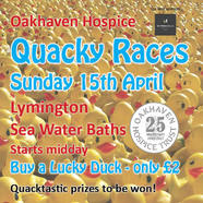 Quacky Races in aid of Oakhaven Hospice