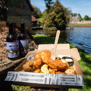 Enjoy takeaway fish and chips from Monty's Inn in Beaulieu every Friday over the summer months